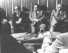 José Figueres, Luis Alberto Monge y Daniel Oduber
